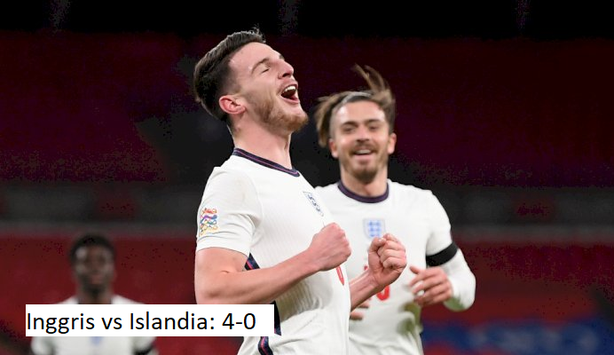 Inggris vs Islandia: 4-0