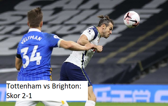 Tottenham vs Brighton: Skor 2-1